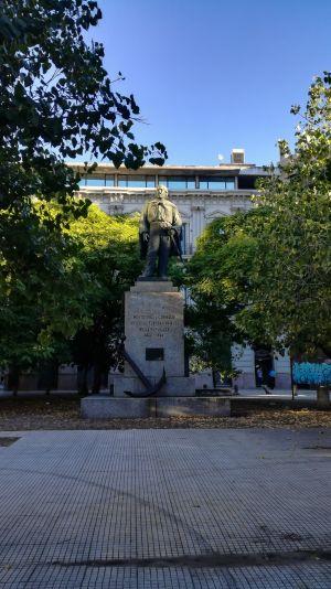 Montevideo - Statue au Port