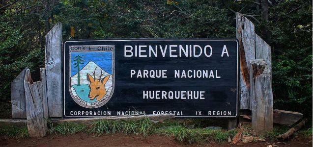 Pucon - Parc Huerquehue Panneau