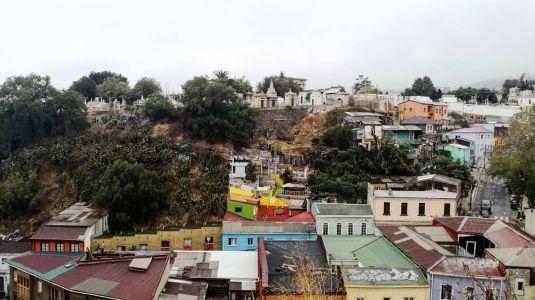 Valparaiso - Vue Sur Cimetière
