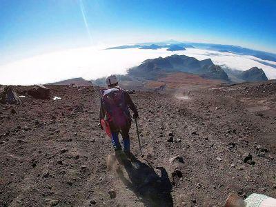 Volcan Villarica - Descente Dans Le Sable