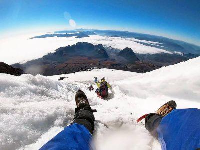 Volcan Villarica - Descente En Luge 3