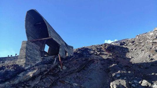 Volcan Villarica - Reste De L\'avalanche